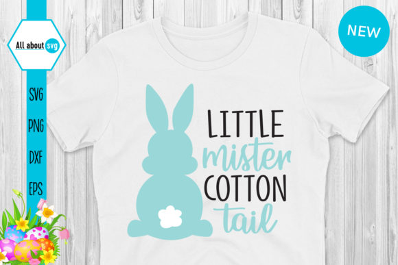 Download Free Little Mister Cotton Tail Bunny Graphic By All About Svg for Cricut Explore, Silhouette and other cutting machines.