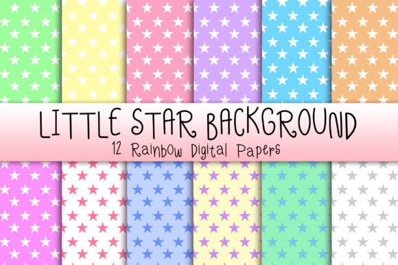 Download Free Little Star Pastel Background Graphic By Pinkpearly Creative for Cricut Explore, Silhouette and other cutting machines.