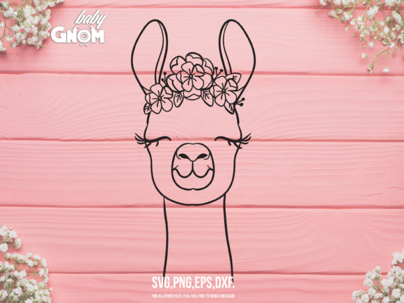 Download Llama with Flower Crown