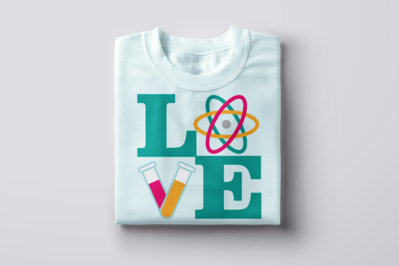 Love Science Graphic Crafts By DesignedByGeeks