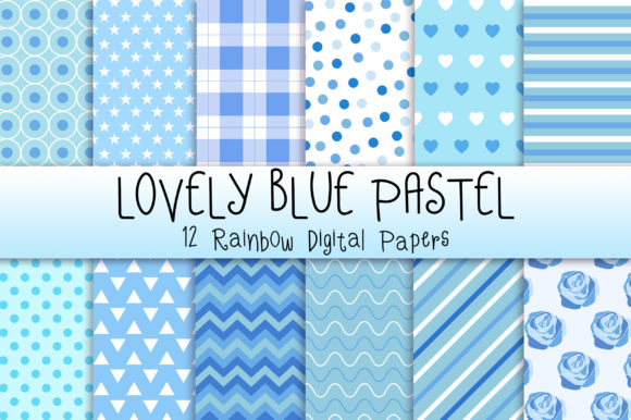 Lovely Blue Pastel Background Graphic Backgrounds By PinkPearly - Image 1