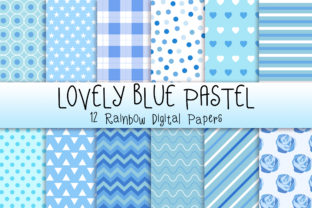 Lovely Blue Pastel Background Graphic Backgrounds By PinkPearly