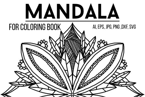 Download Free Mandala 07 Coloring Book Graphic By Stanosh Creative Fabrica for Cricut Explore, Silhouette and other cutting machines.