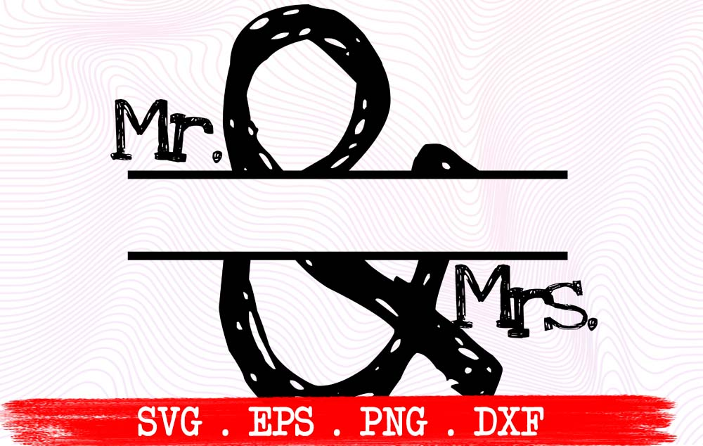 Download Free Mr And Mrs Graphic By Vikshangat Creative Fabrica for Cricut Explore, Silhouette and other cutting machines.