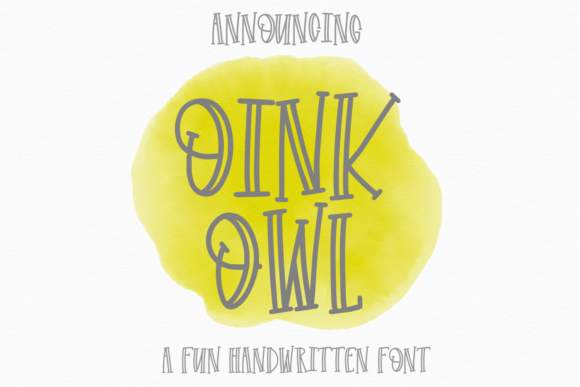 Print on Demand: Oink Owl Display Font By Justina Tracy