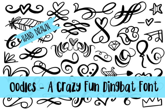 Print on Demand: Oodles Dingbats Font By Justina Tracy