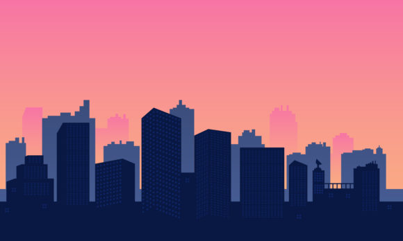 Panorama of City with Building Skycraper Graphic Backgrounds By cityvector91