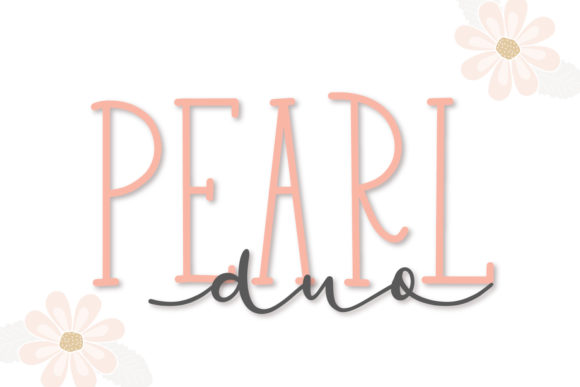 Print on Demand: Pearl Duo Script & Handwritten Font By Justina Tracy