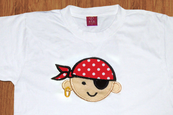 Pirate First Mate Applique Halloween Embroidery Design By DesignedByGeeks
