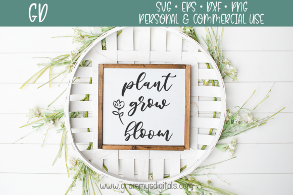Download Free Plant Grow Bloom Grafik Von Grammy S Digitals Creative Fabrica for Cricut Explore, Silhouette and other cutting machines.