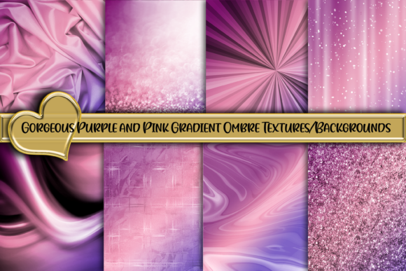 Pretty Purple and Pink Gradient Textures Graphic Backgrounds By AM Digital Designs