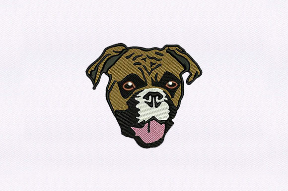 Pug Puppy Face Dogs Embroidery Design By DigitEMB
