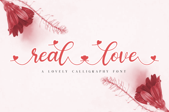 Print on Demand: Real Love Script & Handwritten Font By Bluestudio