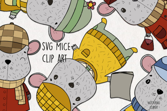 Mouse Clipart Graphic Crafts By NotturnoClipArt