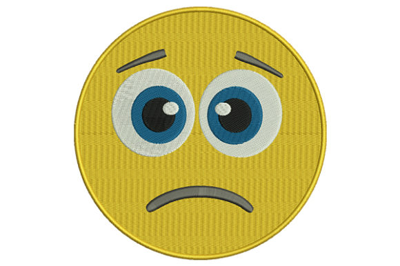 Download Free Sad Face Yellow Emoji Creative Fabrica for Cricut Explore, Silhouette and other cutting machines.