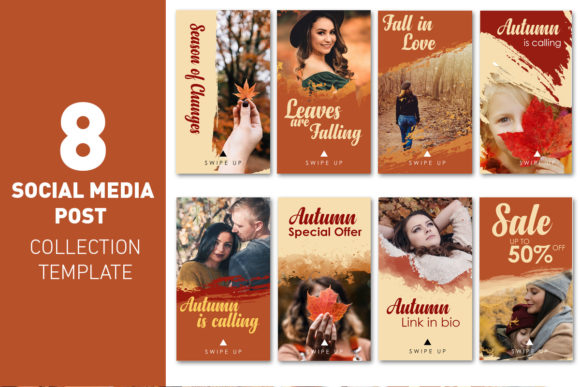 Socia Media Story Autumn Collection Graphic Web Templates By rizsl.grandokz