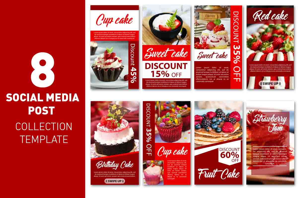Download Free Social Media Story Red Cake Template Graphic By Ant Project for Cricut Explore, Silhouette and other cutting machines.
