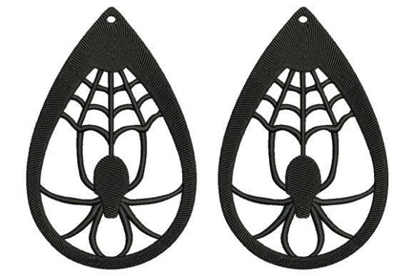 Spider Earrings Fashion & Beauty Embroidery Design By DigitEMB - Image 1