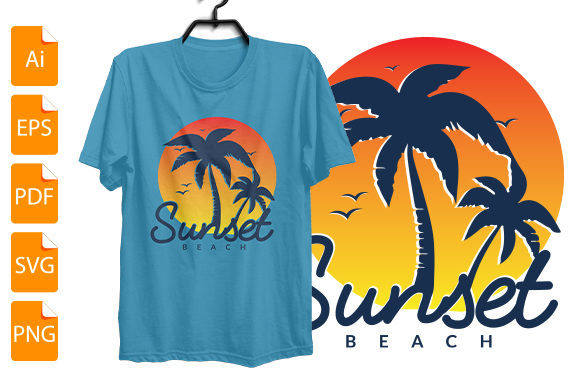 Download Free Sunset T Shirt Design Print Ready File Graphic By Bsakib777 for Cricut Explore, Silhouette and other cutting machines.