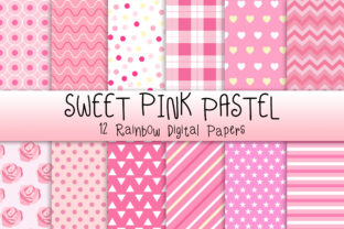 Print on Demand: Sweet Pink Pastel Background Graphic Backgrounds By PinkPearly