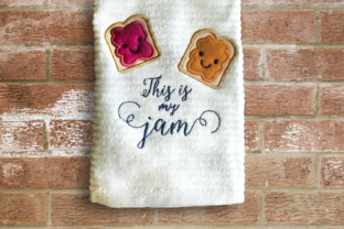 This is My Jam Applique Food & Dining Embroidery Design By DesignedByGeeks