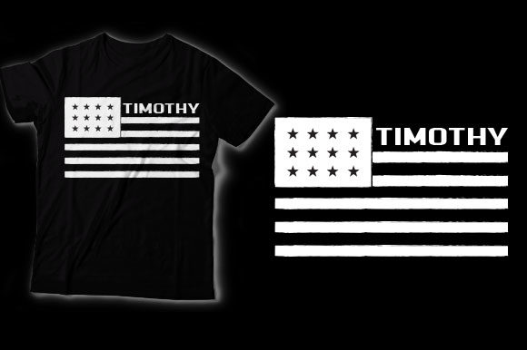 Timothy American Flag Graphic Crafts By HASSHOO