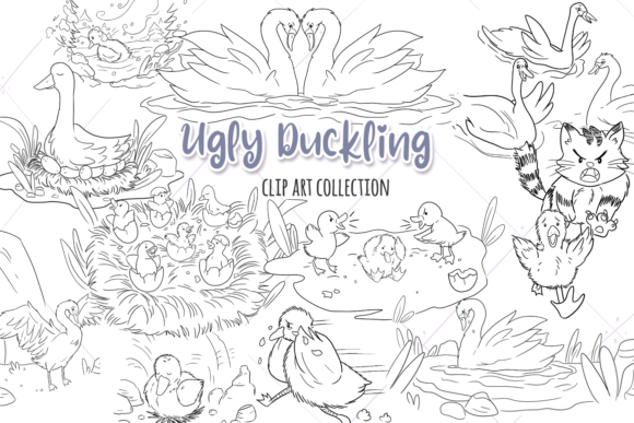 Ugly Duckling Digital Stamps Graphic By Keepinitkawaiidesign