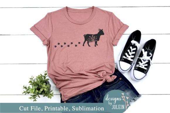 Print on Demand: Walking Floral Goat Graphic Crafts By Designs by Jolein