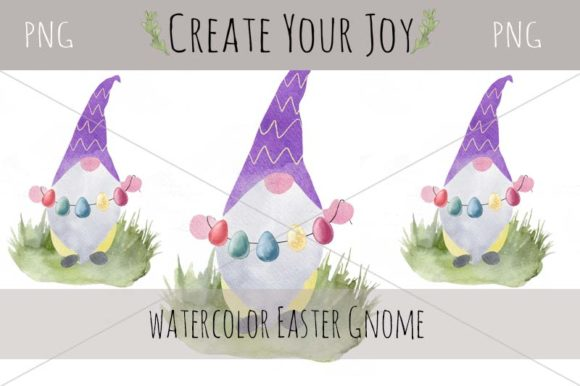 Download Free Watercolor Easter Gnome Graphic By Create Your Joy Creative for Cricut Explore, Silhouette and other cutting machines.