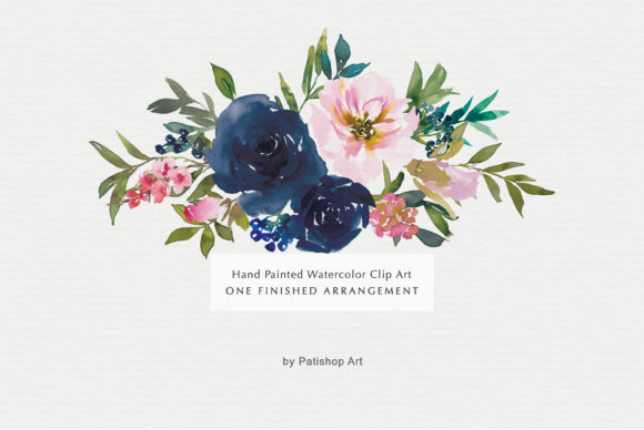 Watercolor Floral Clip Art Graphic Illustrations By Patishop Art