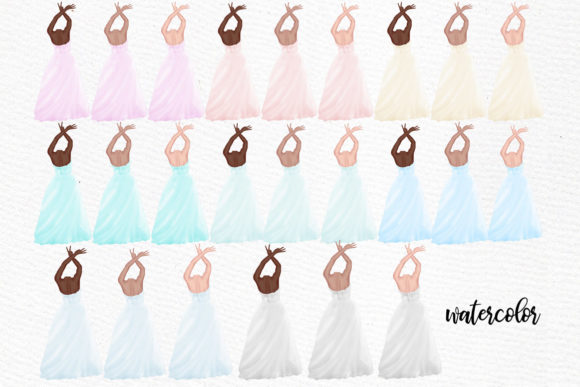 Wedding Clipart Bride and Groom Graphic Illustrations By LeCoqDesign - Image 2