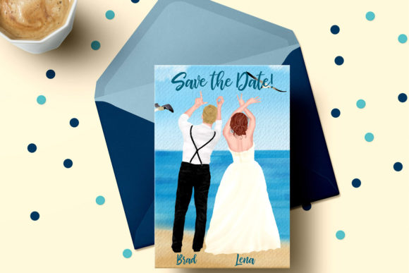 Wedding Clipart Bride and Groom Graphic Illustrations By LeCoqDesign - Image 5