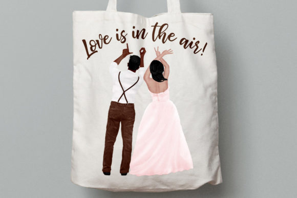 Wedding Clipart Bride and Groom Graphic Illustrations By LeCoqDesign - Image 8