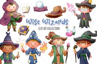 Print on Demand: Wise Wizards Fantasy Clip Art Collection Graphic Illustrations By Keepinitkawaiidesign