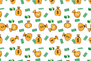Print on Demand: Money Bag Pattern Graphic Patterns By curutdesign