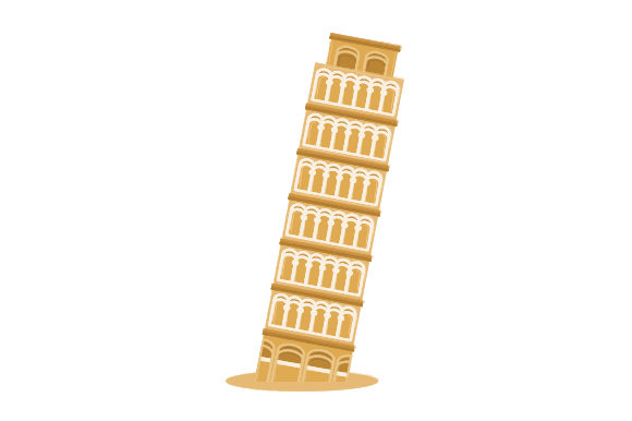 Leaning Tower of Pisa Travel Craft Cut File By Creative Fabrica Crafts - Image 1