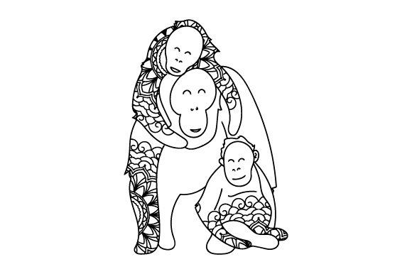 Download Free Mom And Baby Orangutangs Svg Cut File By Creative Fabrica Crafts for Cricut Explore, Silhouette and other cutting machines.