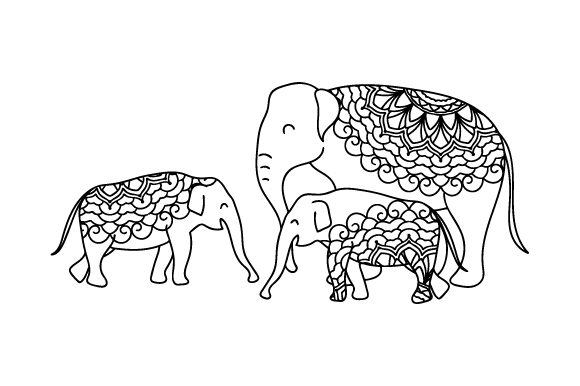 Download Free Mom And Baby Elephants Svg Cut File By Creative Fabrica Crafts Creative Fabrica for Cricut Explore, Silhouette and other cutting machines.