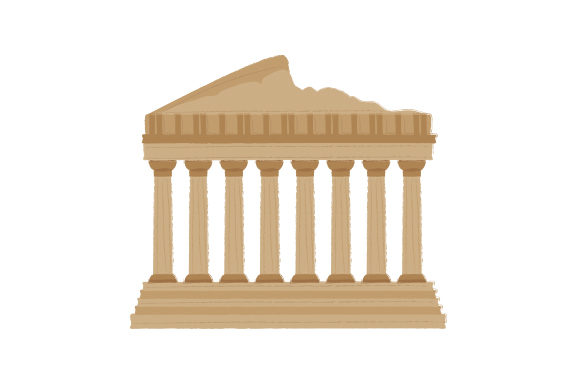 Parthenon Travel Craft Cut File By Creative Fabrica Crafts - Image 1