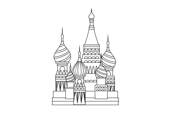 St. Basil's Cathedral Travel Craft Cut File By Creative Fabrica Crafts - Image 2