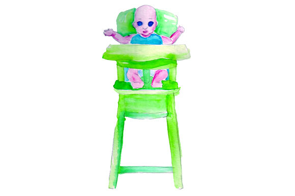 Baby in Highchair Baby Craft Cut File By Creative Fabrica Crafts
