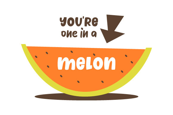Download Free You Re One In A Melon Svg Cut File By Creative Fabrica Crafts for Cricut Explore, Silhouette and other cutting machines.