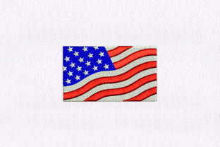 American Banner Flag Independence Day Embroidery Design By DigitEMB