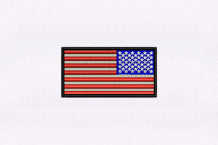 American Flag Independence Day Embroidery Design By DigitEMB