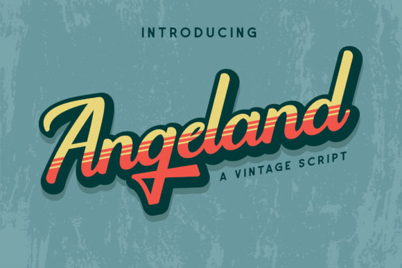Print on Demand: Angeland Display Font By Runsell Graphic