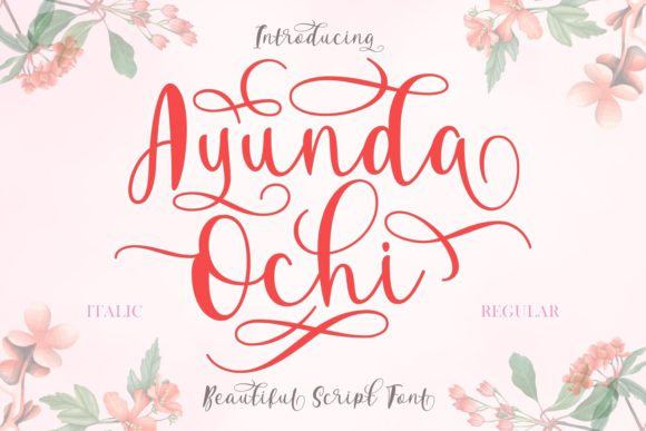 Print on Demand: Ayunda Ochi Script & Handwritten Font By Rifki (7ntypes)