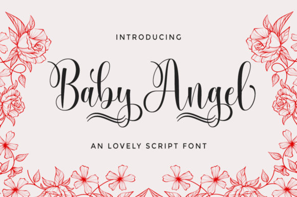 Print on Demand: Baby Angel Script & Handwritten Font By Selotypestudio
