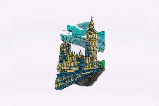 Big Ben Clock Tower Europe Embroidery Design By DigitEMB