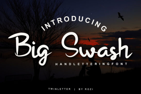 Download Free Big Swash Font By Twinletter Creative Fabrica for Cricut Explore, Silhouette and other cutting machines.