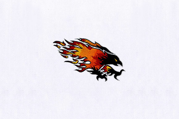 Blazing Dark Phoenix Birds Embroidery Design By DigitEMB